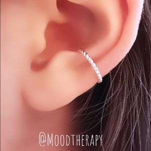 925SS Fake Cartilage Ear Cuff Clip On Earring